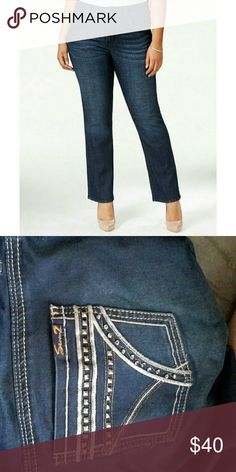 Seven7 Plus Size Navy Wash Slim B Seven7 Plus Size Navy Wash Slim Bootcut Jeans Seven7 Jeans Boot Cut