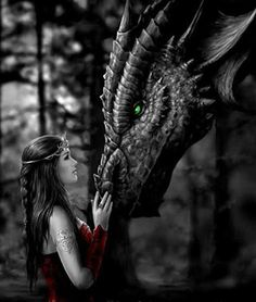 Dragon, sleek and spiky