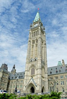 Peace Tower Parliament Buildings, Ottawa - Canada #ottawa #ontario #canada #scenic #canada's capital