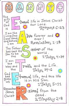 10 easter bible verses for kids start in february for one verse a happy easter negle Images