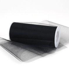 Black Premium Tulle Fabric - 12 inch x 25