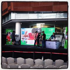Setting up the stage for the demo I did at Paradigm mall in Kuala Lumpur #khootravels #Malaysia