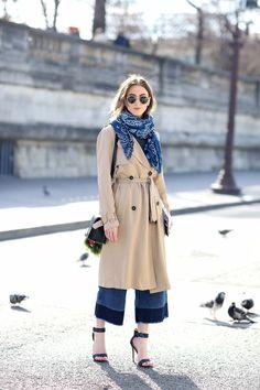 PARIS FASHION WEEK DAY 1 Printemps Été, Mode Femme, Stylisme, Foulard En  Bandana 309ab414f0a