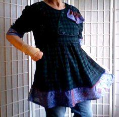 83  Med Large Feminine Mini Dress Lolita Top Women's by ArtzWear