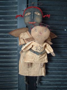 PriMitiVe Folky Angel Doll Instant by BlueMooNBegiNNiNgs on Etsy, $8.50