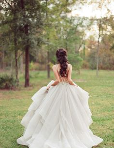 Open back ballgown wedding dress by Hayley paige http://www.itgirlweddings.com/blog/spring-collection-by-hayley-paige