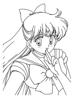Sailor Jupiter Coloring Page