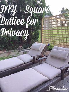 DIY lattice fence for privacy