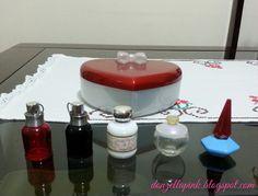 Kit de miniaturas de perfumes da Cacharel - Amor Amor, Amor Amor Forbidden Kiss, Anais Anais, Noa e Lou Lou