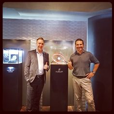 At the Hublot boutique with Loic in Shanghai, featuring the Sphere display.