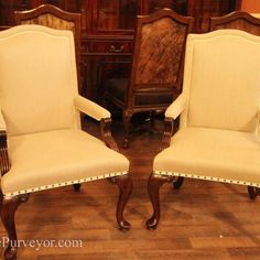 Genial Upholstered Dining Room Chairs With Arms