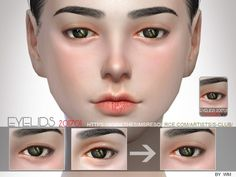 The Sims Resource: Skin Detail Eyelid 201701 by S-club • Sims 4 Downloads
