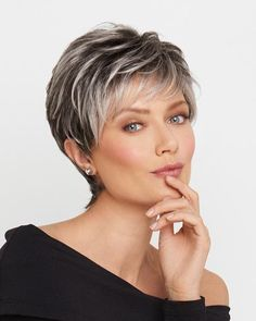 This short, boy cut is long on style and fullness. Beautifully tapered lengths throughout offer a multitude of styling options from full and soft to textured.