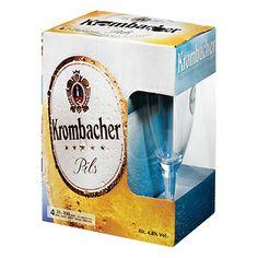 Krombacher Cerveja Alemã Pack 2 + Copo garrafa 33 cl