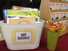 Big Book Tub from the garden section of Target  (Tunstall's Teaching Tidbits)