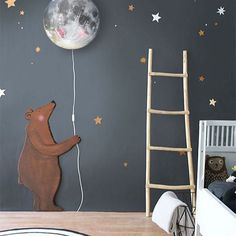 Seriously @hartendief_com  this moon lamp!!! This gorgeous bear!!! So flipping dreamy, we are quietly IN LOVE!! Happy Sunday night lovelies xx.  Image and styling by @hartendief_com.