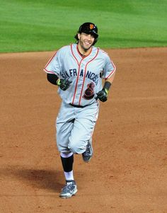 ATLANTA, GA - MAY 3: Michael Morse #38 of the San Francisco Giants rounds the bases after hitting a 7th inning solo home run against the Atlanta Braves at Turner Field on May 3, 2014 in Atlanta, Georgia. (Photo by Scott Cunningham/Getty Images)