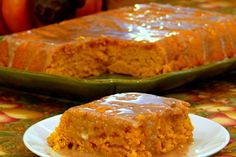 the news style of food: Two-Ingredient Pumpkin Cake with Apple Cider Glaze...