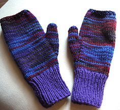 Two-needle Fingerless-gloves free knitting pattern - four different sizes