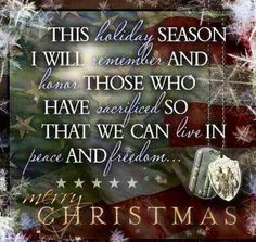 Merry Christmas, Kelley! We hope all of you have a great day in Afghanistan! ❤ Dad & Trudi         God Bless Our Troops!