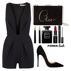 """*POWER LOOK*"" by jjlenka ❤ liked on Polyvore featuring Finders Keepers, Christian Louboutin, Kate Spade, Yves Saint Laurent, Smashbox, Chanel and Lancôme"
