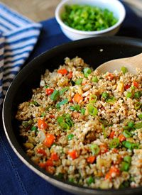 "Eat Yourself Skinny  » Healthy Cauliflower Fried ""Rice"""
