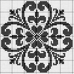 Round 37   Free chart for cross-stitch, filet crochet   gancedo.eu