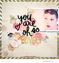 ...so lovely... by maggie massey at @studio_calico@MaggieWMassey for @studio_calico Park Ave. Kits #maggiemassey #studiocalico #scrapbooking