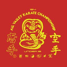Cobra Kai tee shirt from the Karate kid