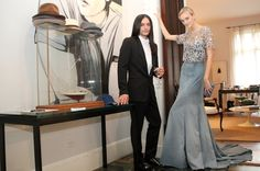 OLIVIER THEYSKENS AND CAROLINE TRENTINI READY FOR THE MET GALA