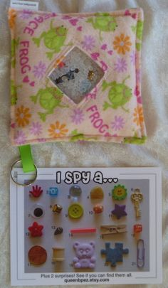 I Spy bag - another good way to do the card