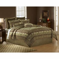 King Size Comforter Set - 14 Piece Set in Serengeti Pattern -