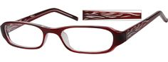 Yes, in brown, too. Very important you know.  Order online, women red full rim acetate/plastic rectangle eyeglass frames model #262718. Visit Zenni Optical today to browse our collection of glasses and sunglasses.