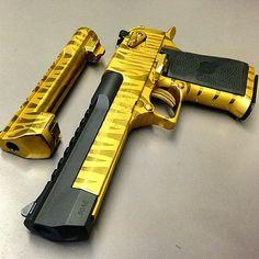 Golden Desert Eagle Revolver Tactical Knives Gear Cool Guns