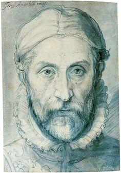 Giuseppe Arcimboldo, Self-portrait, dateunknown, drawing on paper, National Gallery, Prague