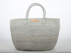 JIONI: Plain Grey Shopper
