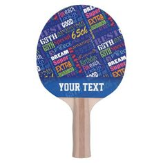 Special 65th Birthday Party Personalized Monogram Ping-Pong Paddle - black and white gifts unique special b&w style