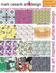print & pattern: SURTEX 2013 - Mark Cesarik flyer