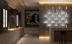 it - Gallery Rendering Engine, Autodesk 3ds Max, 3d Studio, Lighting Design, Wall Lights, Photo Wall, Retail, Gallery, Image