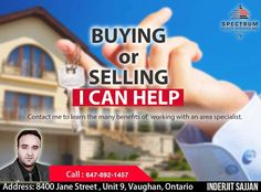 Looking To Buy Or Sell Your Property? You Need To Start Looking For The Right Realtor First!  Contact Us Now! Call: 647-892-1457 #Spectrum #BenefitsOfARealtor