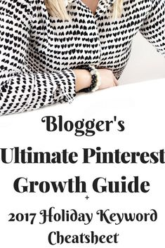 Want to know the best Pinterest strategy that the professional bloggers use for their Pinterest marketing? I've got 7 tips & tricks that will teach you how to increase your blog traffic right now! I'm sharing the best Pinterest strategy, tools, & ideas to help take your blog to the next level! Number 6 is a game changer! Get the Free Pinterest Holiday Keyword Cheat Sheet today!