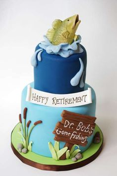 Retirement Cake by Sugarbelle Cakes  I wished my retirement would hurry up and get here!!