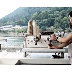 Espresso with a view. This is @Arabica.Coffee's new Kyoto cafe in Arashiyama, as enjoyed by photographer @ikko_life.