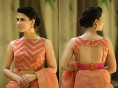 Blouse back neck designs are everything when it comes to picking a good blouse. Here are 40 latest blouse back neck designs that will inspire you to stitch the best blouse for your big day! Indian Blouse Designs, Blouse Back Neck Designs, Simple Blouse Designs, Stylish Blouse Design, Choli Designs, Bridal Blouse Designs, Brocade Blouse Designs, Designs Kurta, Dress Designs