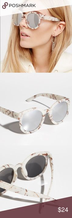 Abbey Road SUNGLASSES Round Mirror Marble Silver BRAND NEW!! Retro-shaped plastic framed sunglasses with tinted lenses. Perfectly rounded, retro shape.  Color: Ivory Marble (Silver Lense)  🌟Item is Brand New, direct from the Manufacturer, & Sealed in Pkg.🌟 Accessories Sunglasses