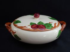 Franciscan APPLE Round Covered Vegetable Serving Dish Made in USA c. 1953 - 1958 #Franciscan