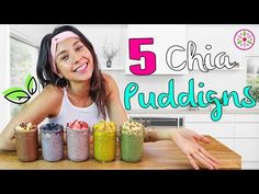 Chia puddings don't need to be saved for dessert! They're so healthful that you can also eat them for a snack or breakfast. They come in tons of colors and flavors, and your imagination is the only limit!