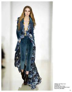 Cameron II coat, Lila gown, Georgie pant, Art Deco necklace & Pippa bootie