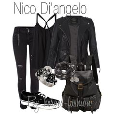 """""""Nico Di'angelo: Son of Hades"""" by heroes-fashion on Polyvore"""