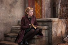 Sophie Nélisse as Liesel Meminger in The Book Thief (2013).  While subjected to the horrors of World War II Germany, young Liesel finds solace by stealing books and sharing them with others. In the basement of her home, a Jewish refugee is being sheltered by her adoptive parents.
